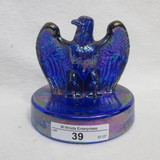 Fenton Eagle Paperweight - Independence Blue