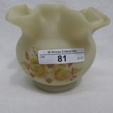 Fenton HP Custard Rose bowl