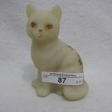 Fenton HP Custard Sitting Cat