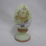 Fenton HP Custard Egg on Font - Haught