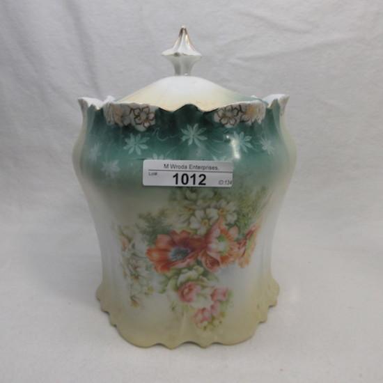 UM RSP floral biscuit jar w/ mixed florals