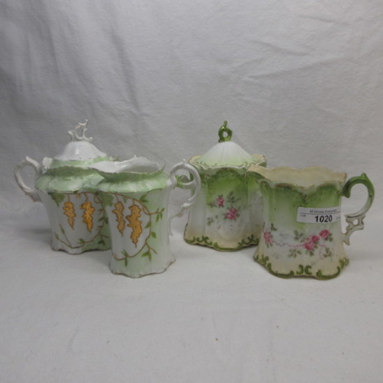 4 RS & UM Prussia sugar bowls as shown