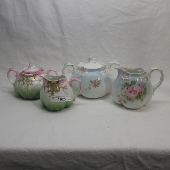 2 UM RS Prussia cream & Sugar sets as shown