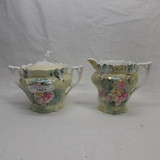 RS Prussia Iris mold floral creamer and sugar.