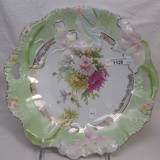 Hidden Image floral cake plate w/ mums decor