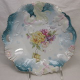 Hidden Image floral cake plate w/ roses decor