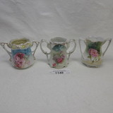 3 RS Prussia floral toothpick holders