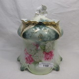 RS Prussia point & clover mold biscuit jar rose & snowballs decor