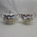 RS Prussia floral cream and sugar set w/ jonquils