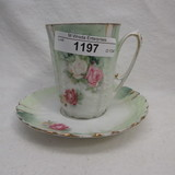 Ripple mold floral cup and saucer