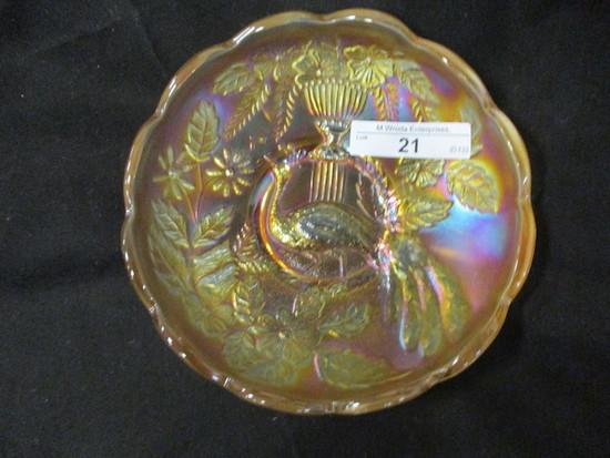 """Nwood 5"""" pastel mari Peacock at Urn ICS bowl"""