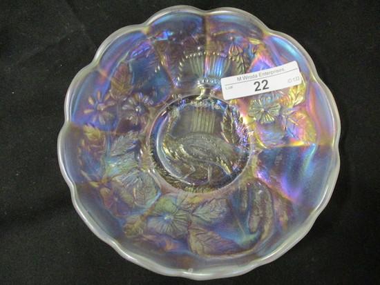 "Nwood 5"" white Peacock at Urn ICS bowl"