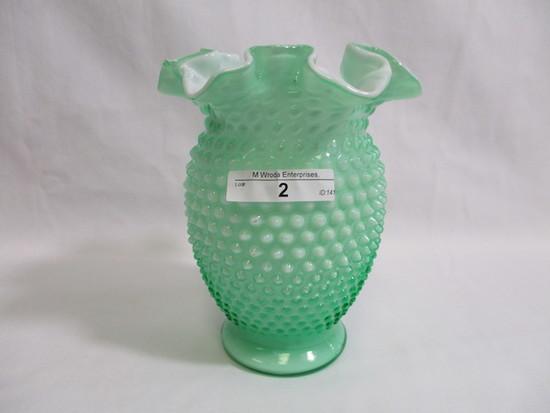 """Fenton 5"""" hobnail cased vase"""