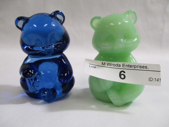 "2 Fenton 2"" mini bears"