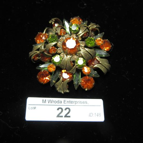 Juliana jewelry By Delizzah Elster NYC Brooch 1950-1960