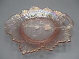 Fenton Pink Irid, Leaf Plate