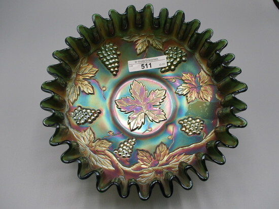 """Fenton 8"""" green Vintage CRE bowl"""