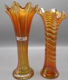 2 mari. Carnival vases: Thin Rib & Ripple