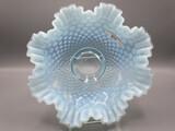 Fenton blue opal hobnail 10' brides bowl