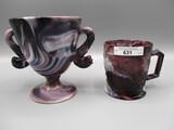 2 pcs Imp purple slag- candy/mug
