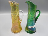 2 Miniature MOrning glory tankards green/mari