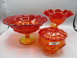 tray Fenton compotes & candy dish
