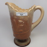 Greentown Chocolate glass Squirrel water pitcher