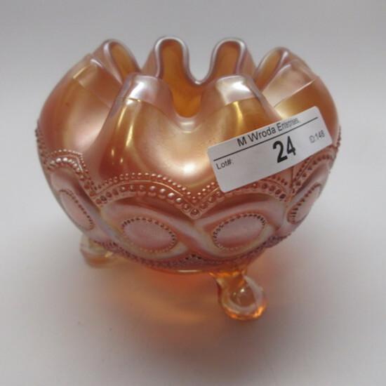 Nwood marigold  Beaded Cable rosebowl.