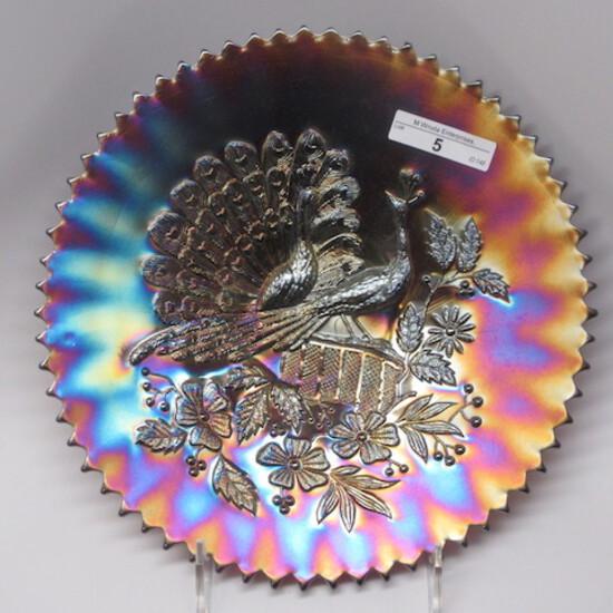 """Nwood 9"""" purple Peacocks plate"""