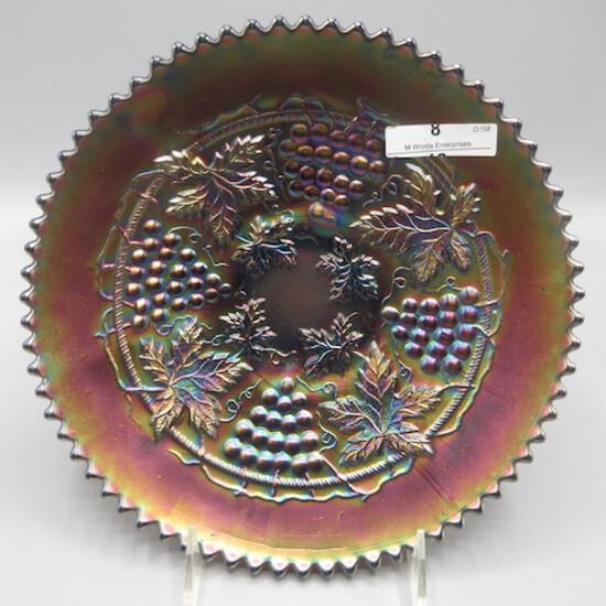 """Nwood 9"""" purple G&C plate"""