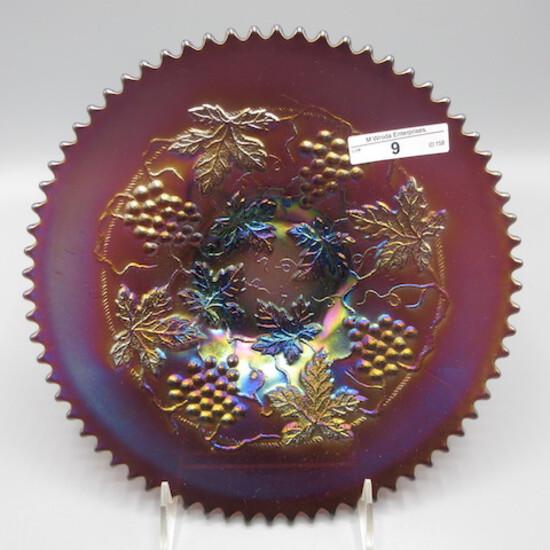 "Nwood 9"" purple G&C plate w/ P Back"