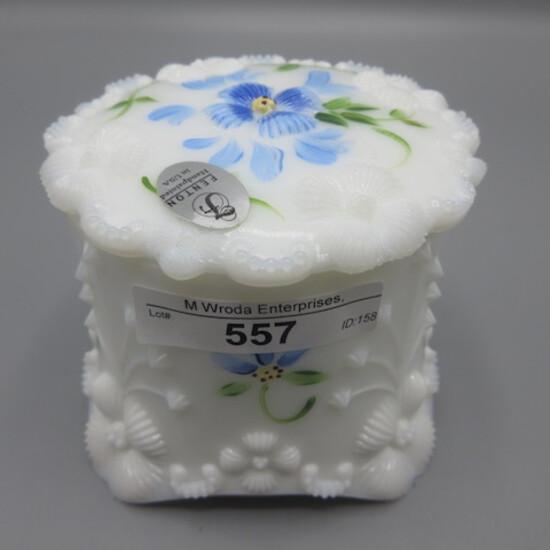 Fenton HP Milk Glass Trinket Box