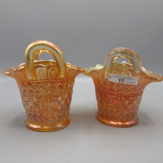 2 Dugan marigold Big Basketweave baskets