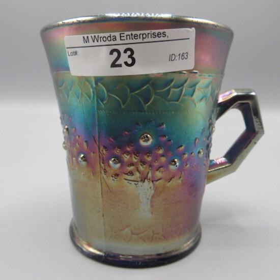 Fenton blue Orange Tree mug