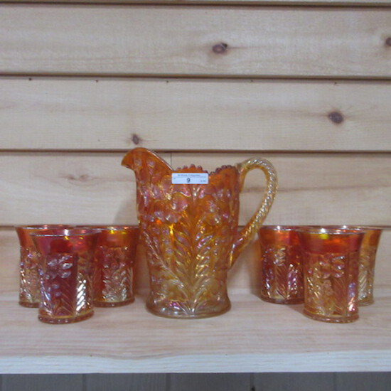 Imperial bright marigold Tiget Lily 7 pc water set