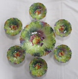 RS Prussia 7-piece Berry Set with Fruit Decor on all pieces, Multi-Color Gr