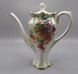 RS Prussia Demitasse Pot with Apples decor. RM