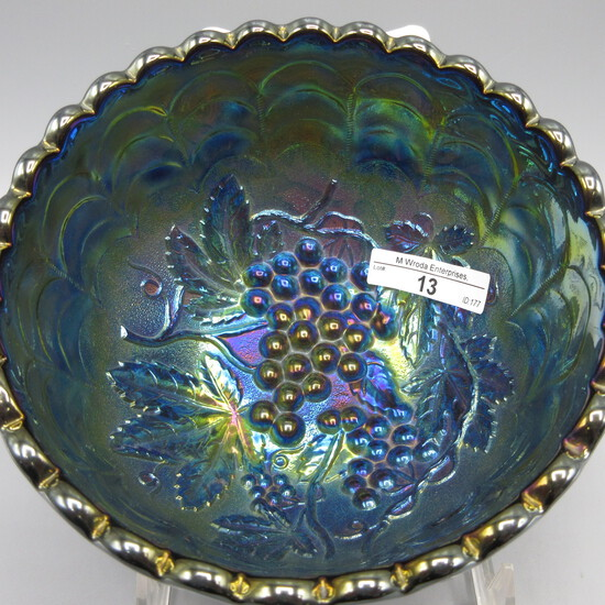"""Imperial 6 x4.5"""" Grape nut bowl w/ elec purple irid. Never seen this before"""