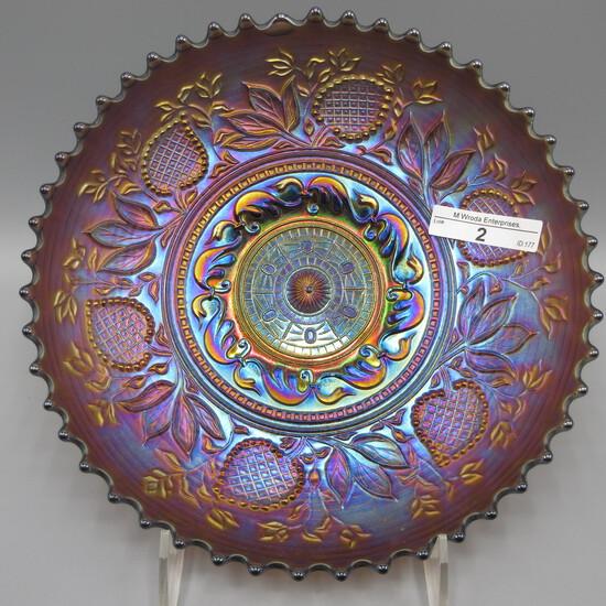 "Dugan 8.5"" elec purple Fanciful ICS bowl- SWEET almost an elec lt amethyst"
