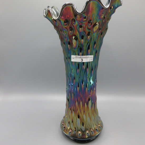 """Nwood 14"""" purple Tree Trunk mid size vase w plunger base"""