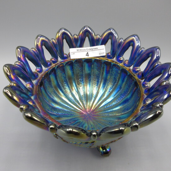 Nwood BLASTING ELEC BLUE Wild Rose nut dish This thing is Absolutley on FIR