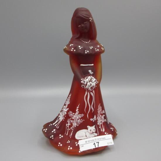 """Fenton hand painted Bridesmaid doll-"