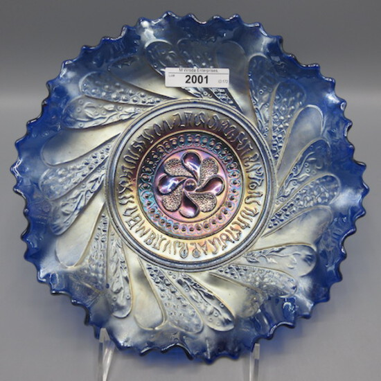 "Dugan 9"" blue ROund Up low ruffled bowl"