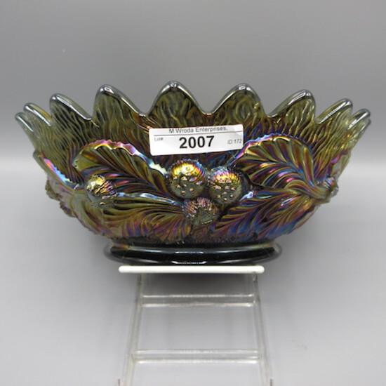 "Nwood 9"" purple Acorn Burr master berry bowl"