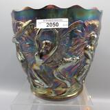 Fenton purple Mermaid jard vase