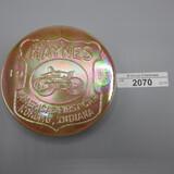 Haynes round paperweight, Kokomo Glass