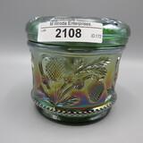 Camb green Inverted Strawberry powder jar