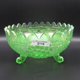 Nwood ice green G&C centerpiece bowl w/ points up