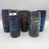 5 imp IG art glass tumblers- Elkhart Lakes (4)