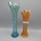 2 Ripple vases, mari / smokey blue